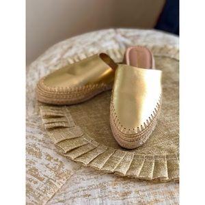 "⚓️ SAM EDELMAN ""Austin Espadrille"" Gold Close-toe"